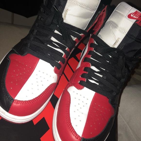 low priced 5e03a a010b Half and half Jordan 1's